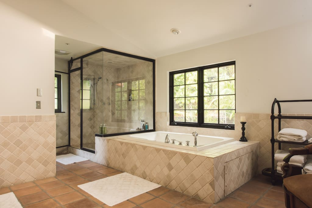 Master Bath, Shower and Tub