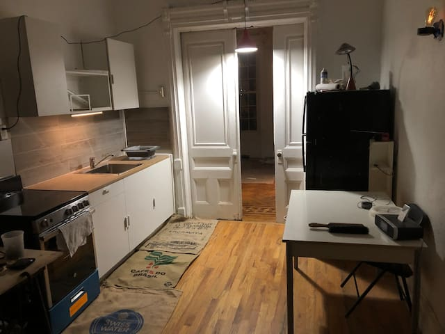 Townhouse studio apartment in historic Bed-Stuy