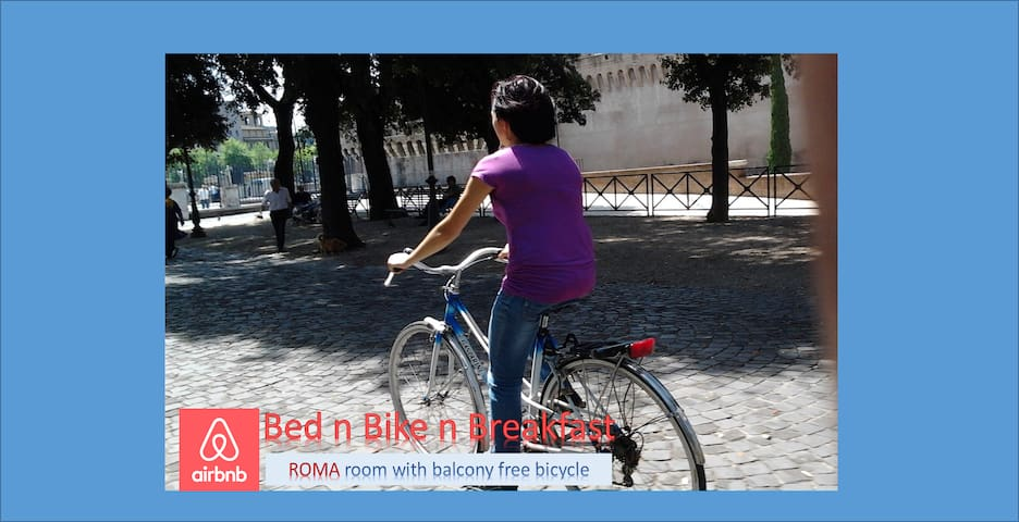 Bed & Bike alla Piramide with balcony.