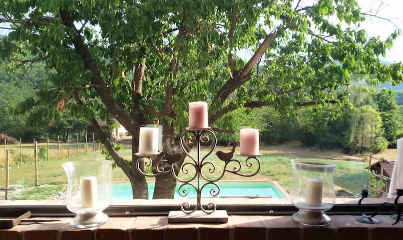 Fantastic Farmhouse,in Gavi area,Private Pool - Casaleggio Boiro - Huis