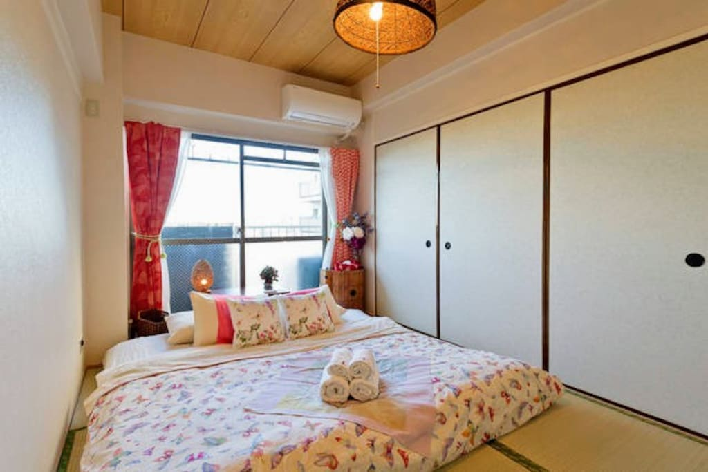 Your private room.I put Futon on the Tatami floor