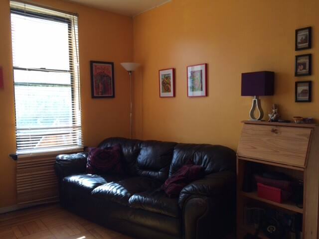 Sunny, furnished studio right on Prospect Park