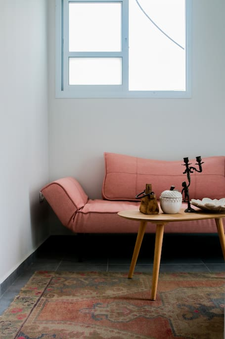 Sofa opens into an extra bed