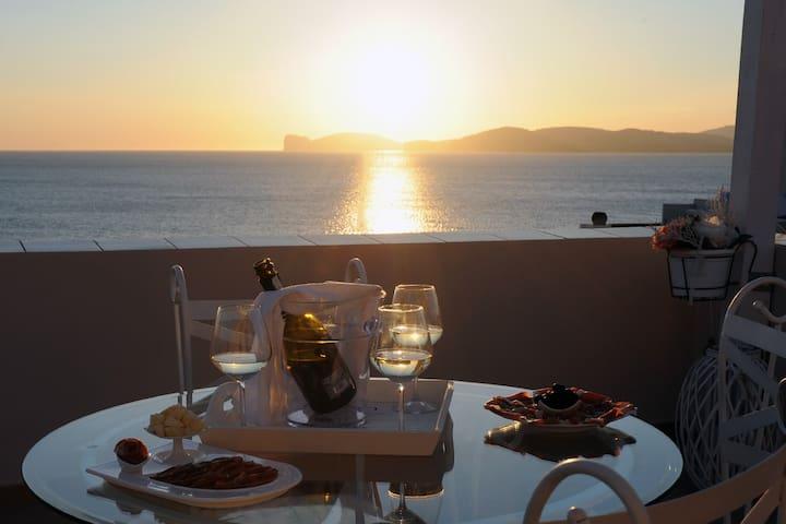 Il tramonto sul mare - Alghero - Appartement