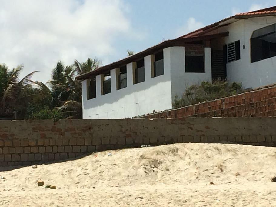 House is on The beach