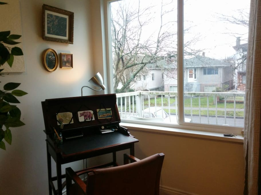 Writing desk if you're in town for work.