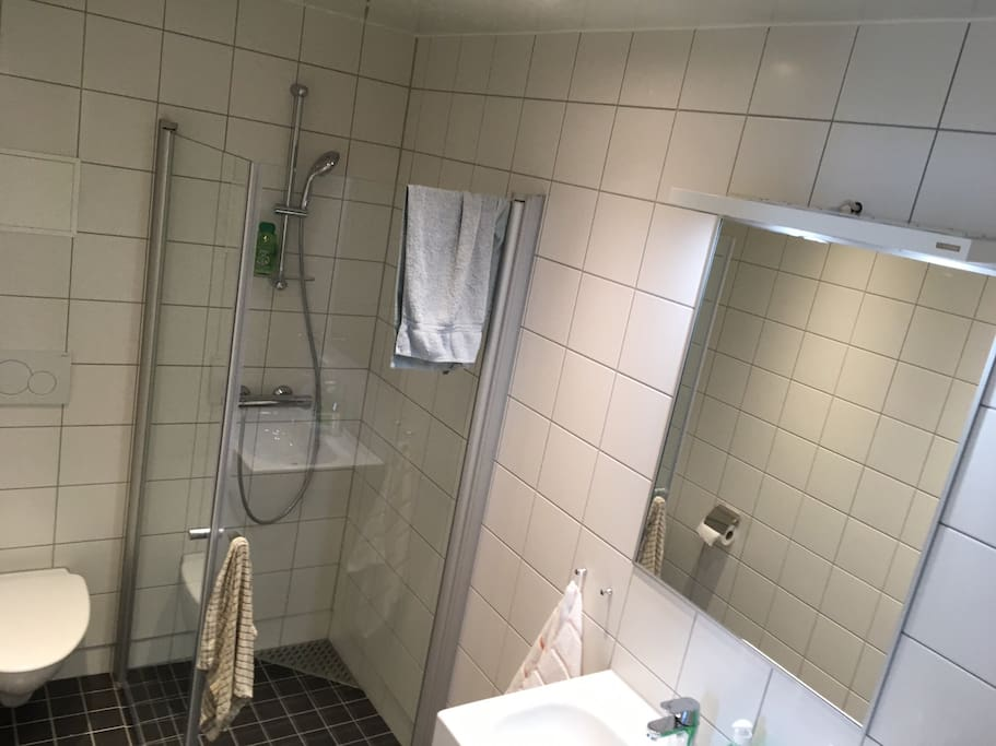 Bathroom with plenty hot water and heated floor