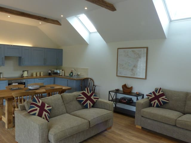 The open plan living space