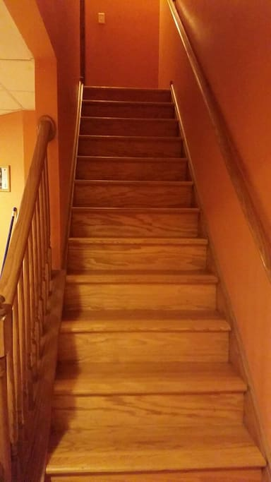 Stairs to hallway