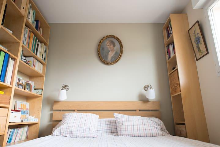 Chambre  lit 160cm côté jardin