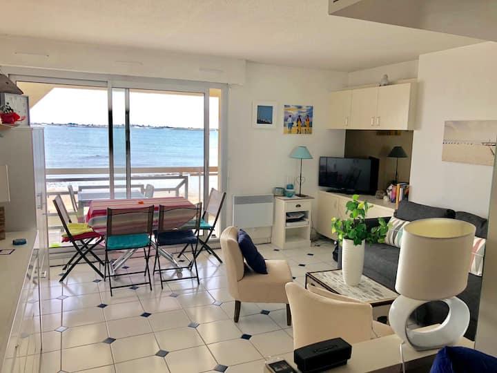 Studio vue mer exceptionnelle plage de Larmor