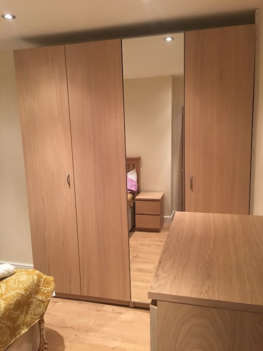 Large wardrobe space to put your things