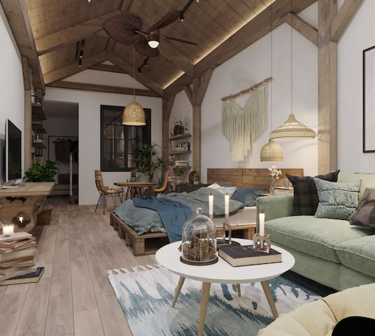 French architectural wood ceiling
