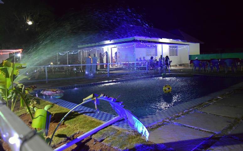Farm house stay-swimming Pool near Hyderabad