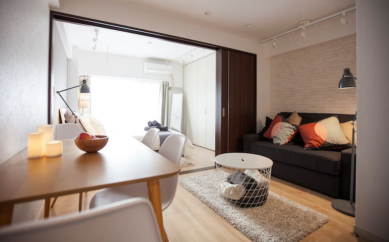 NEWLY OPEN PEACEFUL SUPER COMFY & 4 MIN TO STATION - Meguro - Departamento