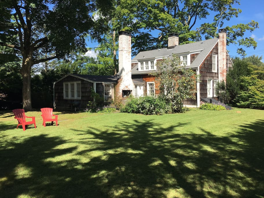 The spacious, shaded back yard is one of the most popular features of this charming, historic home.