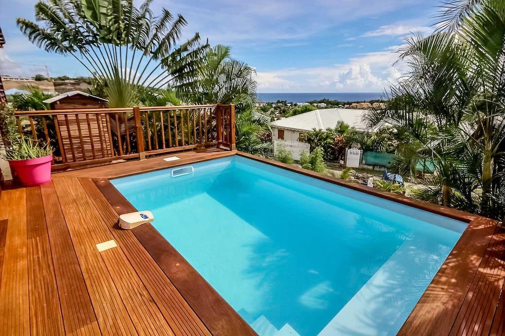 Villa emma 3ch proche plage et piscine villas for rent for Villa piscine martinique