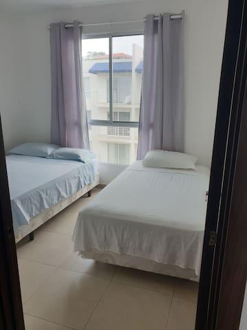 Dormitorio 3, camas de 2plz y 1.5 plz