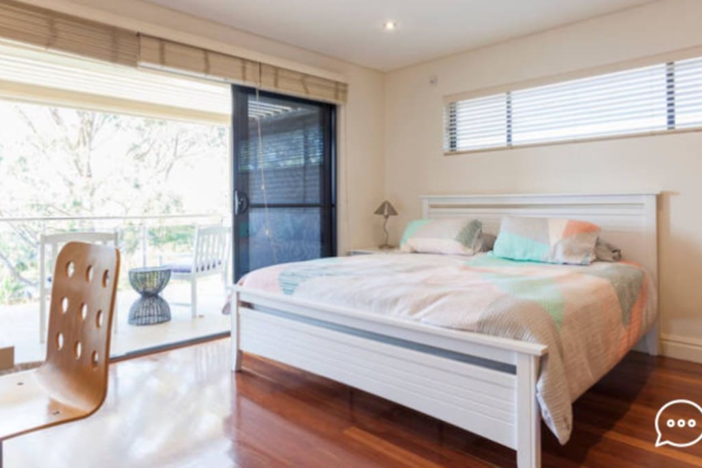 You're own spacious bedroom with its own terrace with sweeping views. Plus work desk, printer and free wifi.