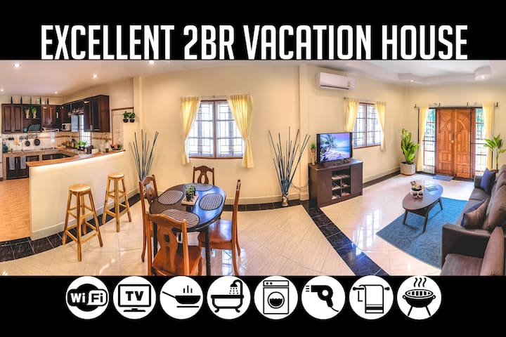 2BR Vacation House near Bang-Tao Beach, Sleeps 5-6