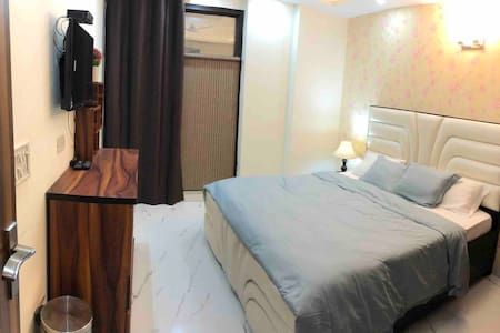 2 Bedrooms with attached bathroom& modular kitchen