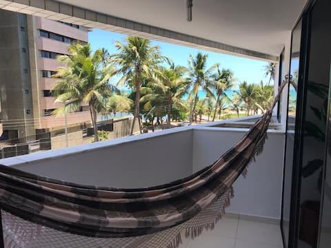 Apto beira-mar, aconchegante e seguro em Maceió AL