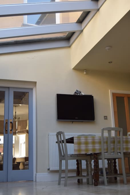 You are welcome to relax around the kitchen table where you will have use of freeview TV and wifi.