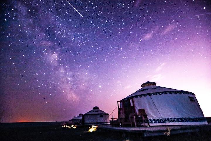呼伦贝尔牧居原上蒙古包度假营地