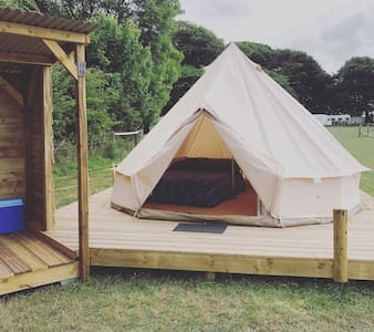 The Bell tent Glyncoch isaf a cozy canvas delight