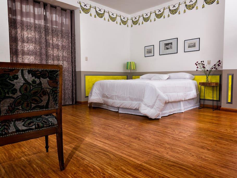 El espacio y la decoración de las habitaciones