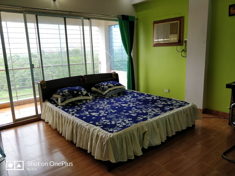 Spacious bedroom with a beautiful view and all modern amenities