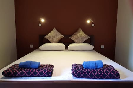 Our superior double room with ensuite, aircon and TV
