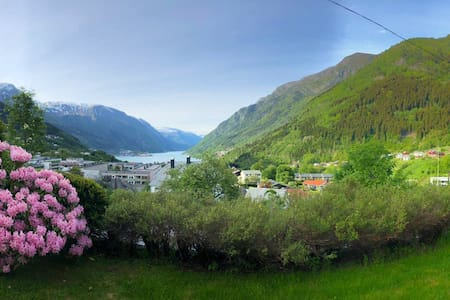 Great apartment with views of Fjord and Mountains