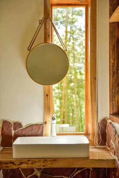房间-洗手台,和自然之间零距离