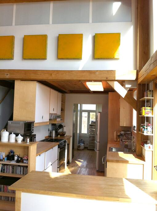 Galley kitchen leading into spacious pantry