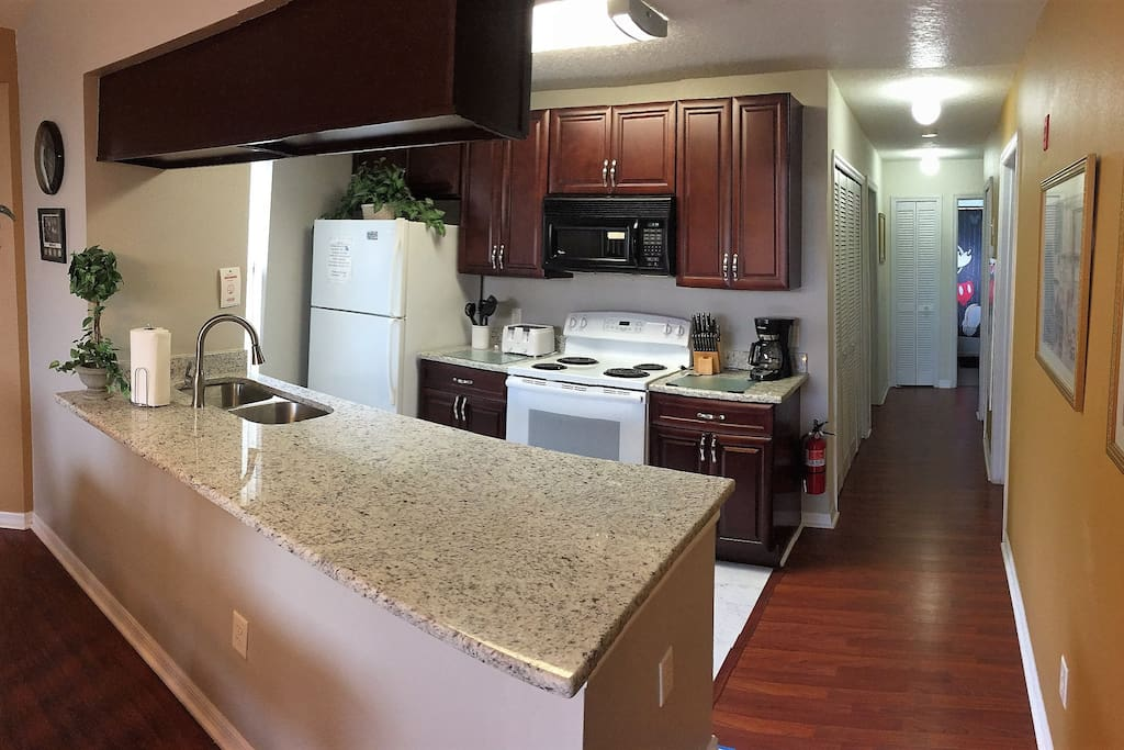 Check out our new kitchen with granite!