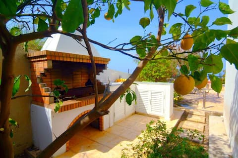 Villa with Panoramic Sea Views  - Pool WiFi AC BBQ