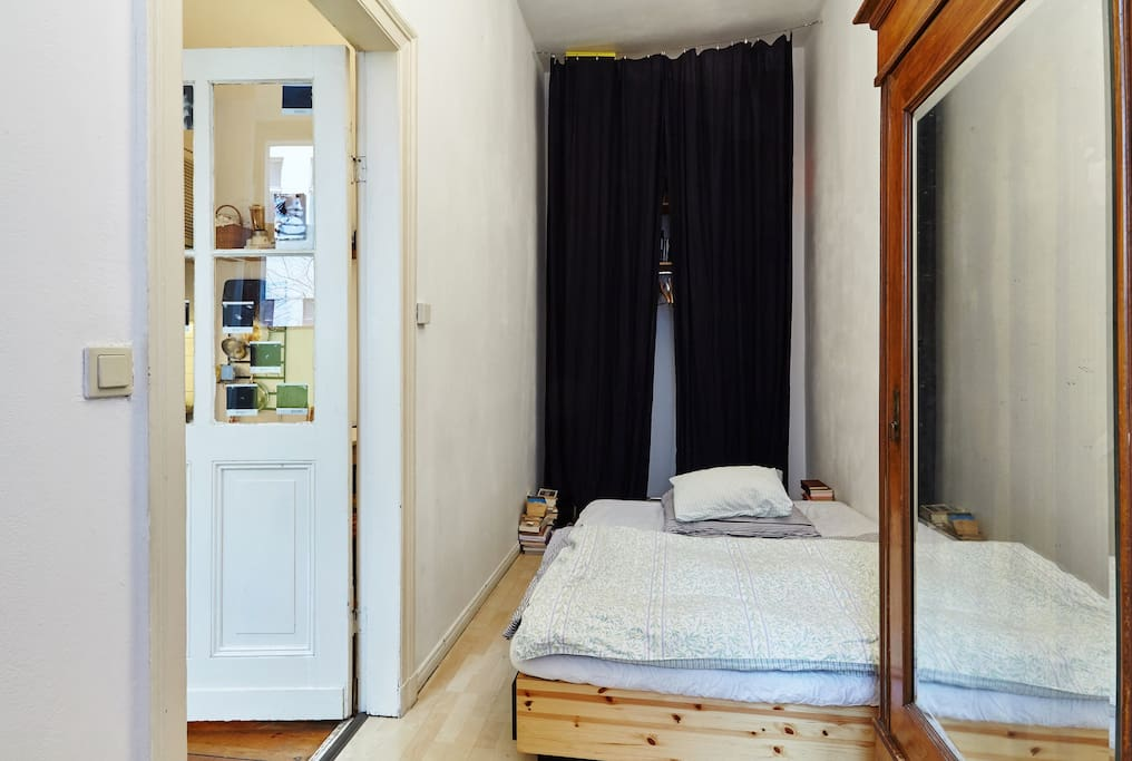 Bedroom (bed with futon mattress)