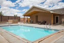 Clubhouse pool and hot tub