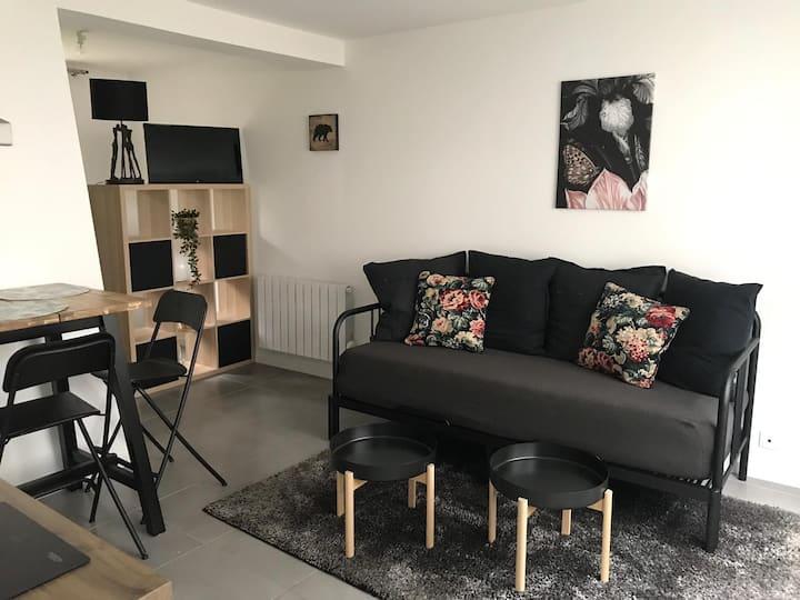 Appartement privé avec grand lit confortable