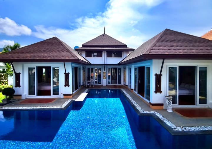 Thai style luxury villa large swimming pool