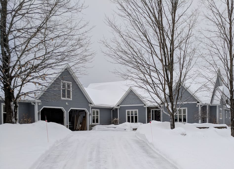 A view of our home during the Winter of 2017/2018