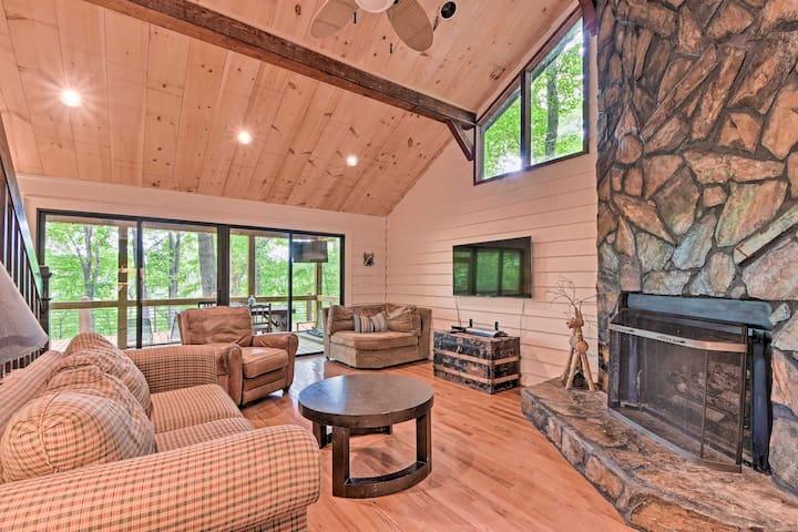 NEW! Blue Ridge Lake Cabin w/ Boat Dock & Hot Tub!