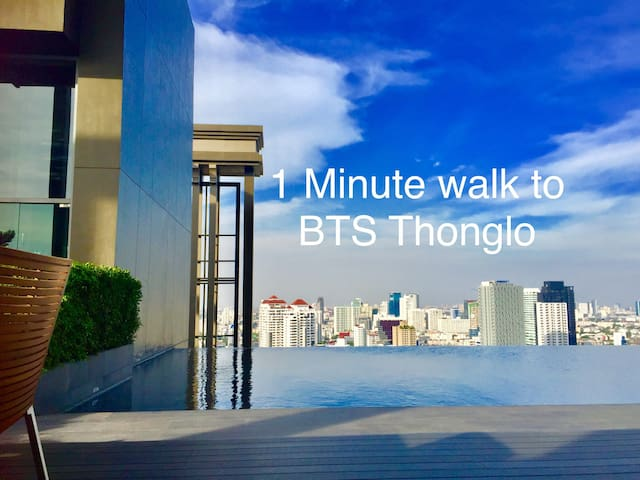 1MinWalkBTS ThongLo/Topfloor pool