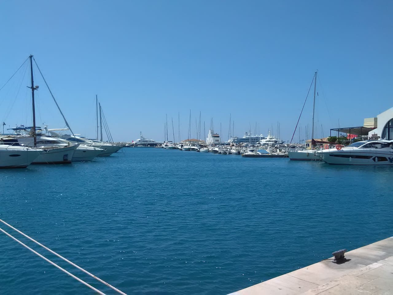 Limassol marina. 5 minutes walk to this area. our space is included in to the marina area
