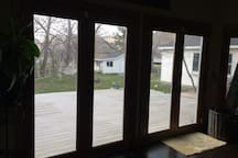 French doors to back yard