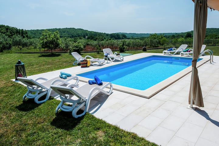 Luxury villa with private pool and peaceful location just 9 km from Rovinj.