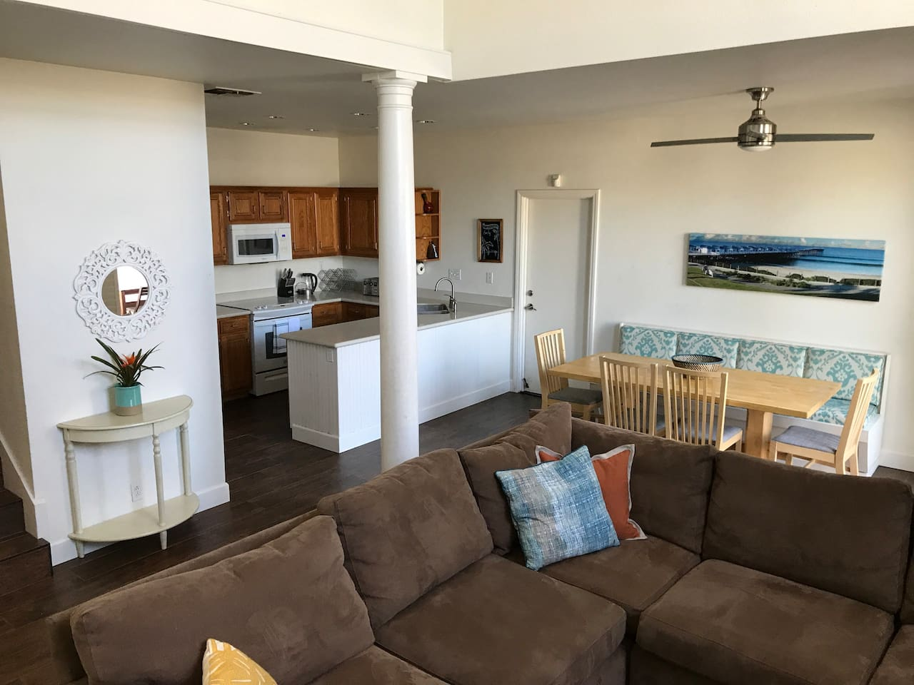 Welcome to beach living! Find location and privacy in this spacious townhome just steps to the beach, boardwalk and pier in the best location in Pacific Beach.