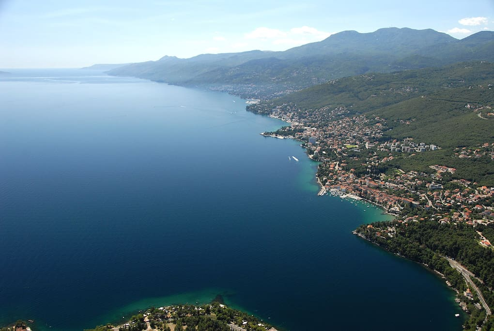view to Opatija riviera - 1 km from apartment