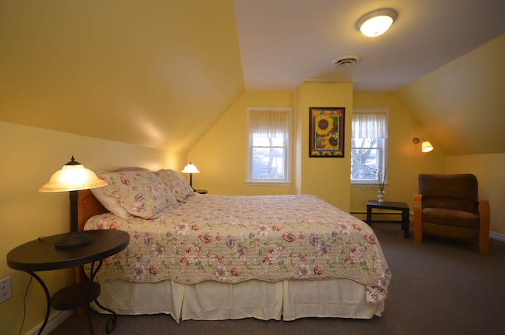 302-Queen bed,  56 Main St., Wolfville, N. S.